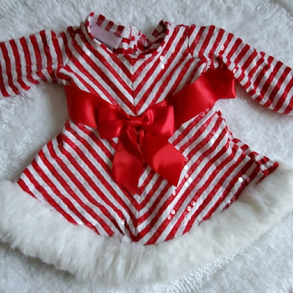 Bonnie Baby Red Santa Dress